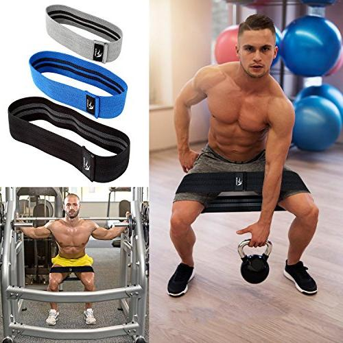 Resistance Bands,Loop Exercise Hip Bands Butt,Resistance Bands & Non Loop Hip Fabric Set of 3