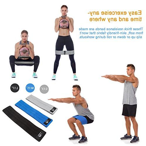 Resistance Exercise Bands Hip Resistance Bands Bands Butt,Resistance Bands Non Slip, Loop Hip Band Hip Workout Set of 3