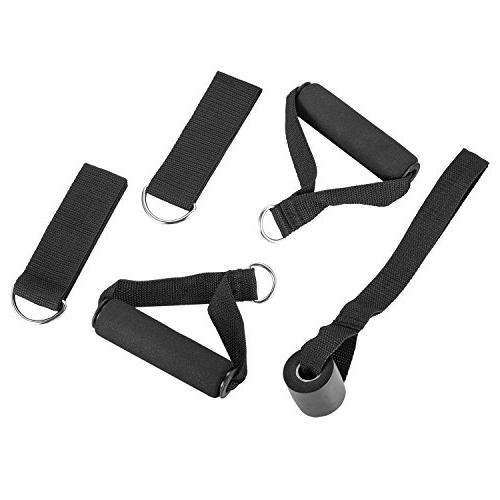 Set Fitness Bands Anchor Attachment, Foam Ankle Straps, Exercise Guide and Waterproof for Therapy Gyms