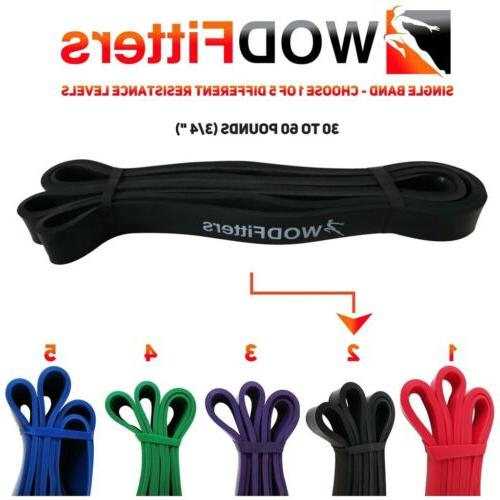 resistance bands black single band assisted pull