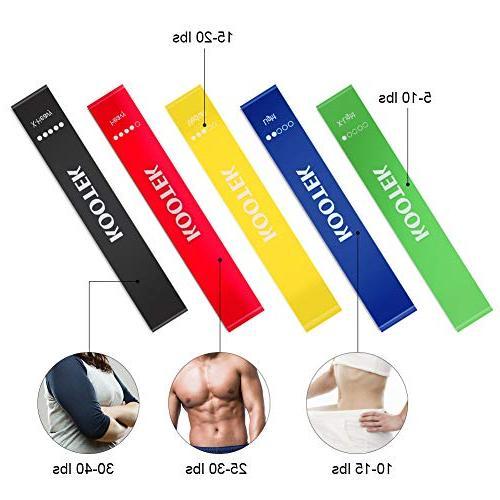 Kootek Core Sliders for 80 4 Bundle, Loop Bands and Floor Gliders for Gym