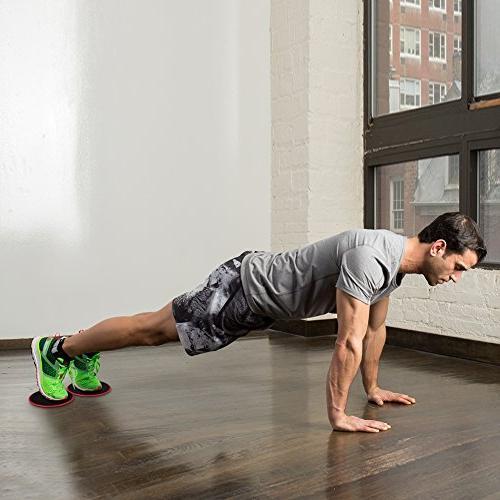 Kootek Resistance Bands Core Sliders for 80 4 Gliding Discs Exercise Bundle, and Floor for Gym Workout