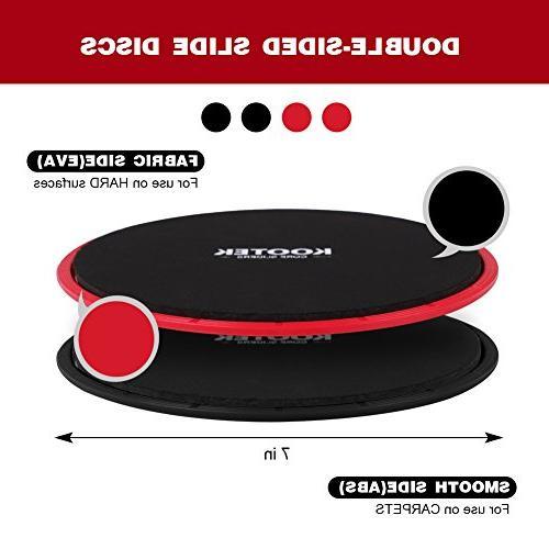 Kootek Core Sliders for 4 Gliding Discs Bundle, Loop Floor Gym Workout
