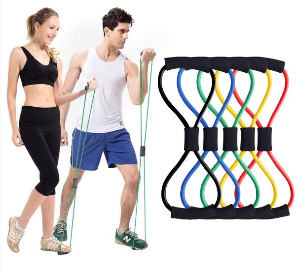 Resistance Bands Elastic Legs Hands Home Exercise Fitness Ac