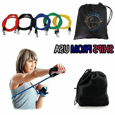 New PCS Resistance Bands Exercise for Yoga ABS rope