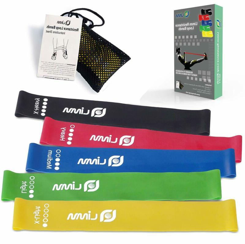 Limm Resistance Bands Exercise Loops  12inch Workout Flexban