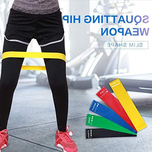 HOONSO Resistance Bands Set 9 fit Fitness Physical Therapy Bag