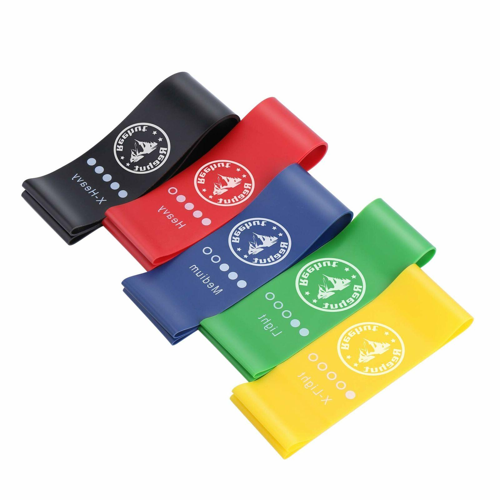 Resistance Bands Exercise Set Fitness Workout Loop Legs Therapy