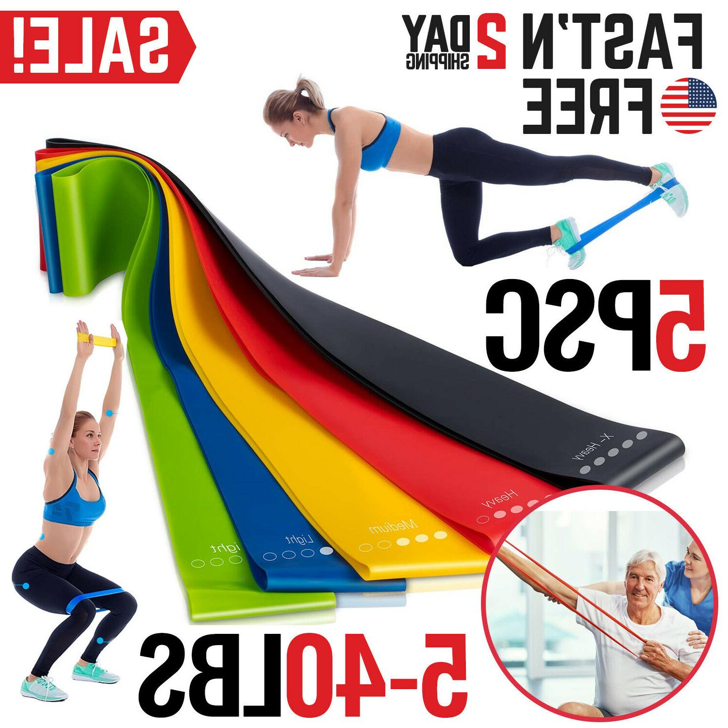 resistance bands exercise set fitness workout stretch