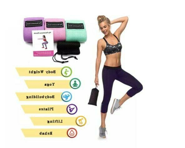 resistance bands fitness booty bands 3 piece