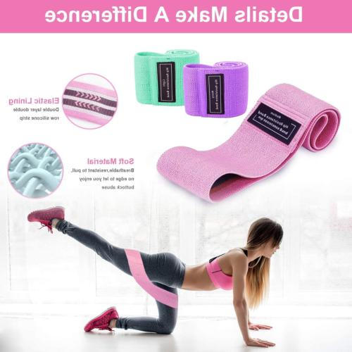 Resistance for and Exercise Non Fabric Workout Bands