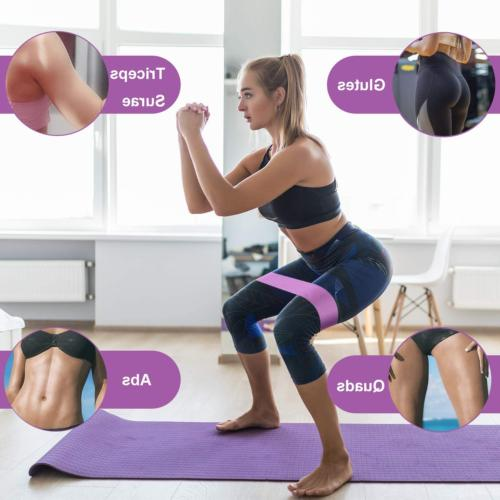 Resistance for Legs and Non Slip Fabric Workout Bands