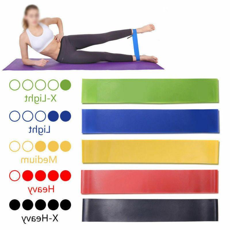 Resistance Bands Loop Workout CrossFit Fitness Yoga