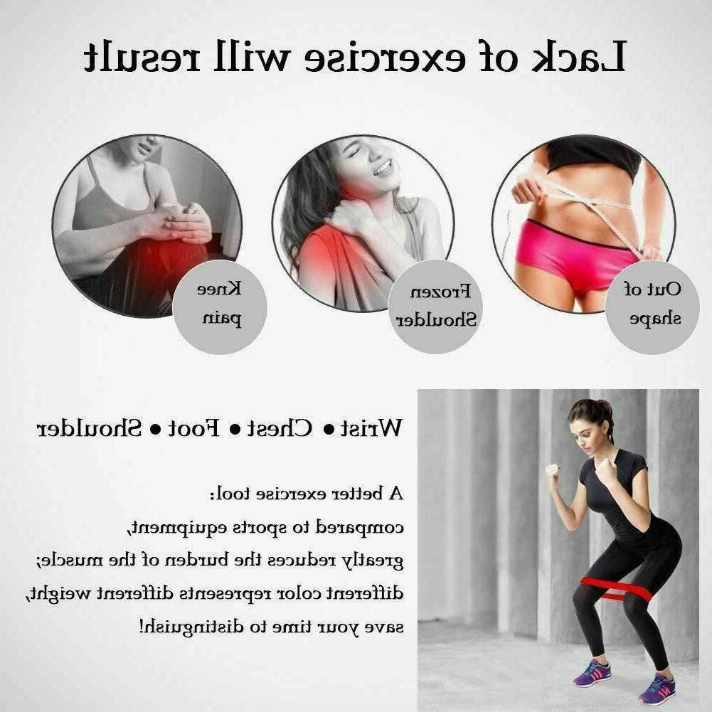 Resistance Bands Loop Set 5 Legs Exercise Workout CrossFit Yoga