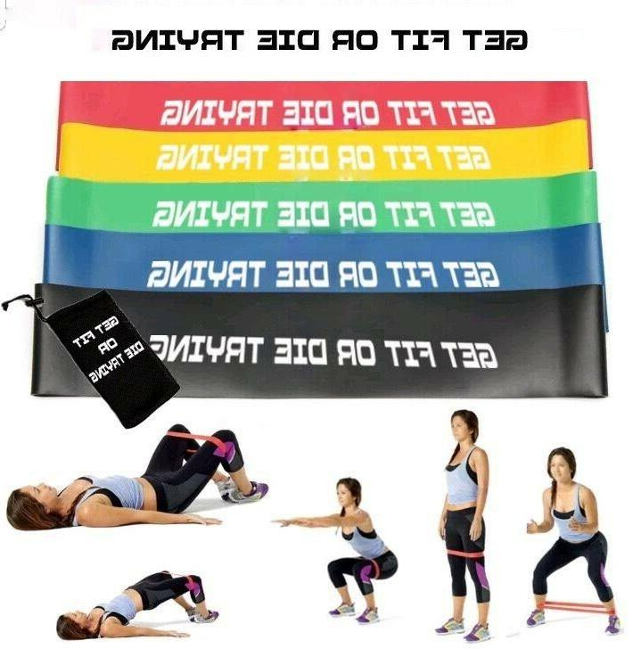 Resistance Bands Loop Exercise Fitness Gym of 5