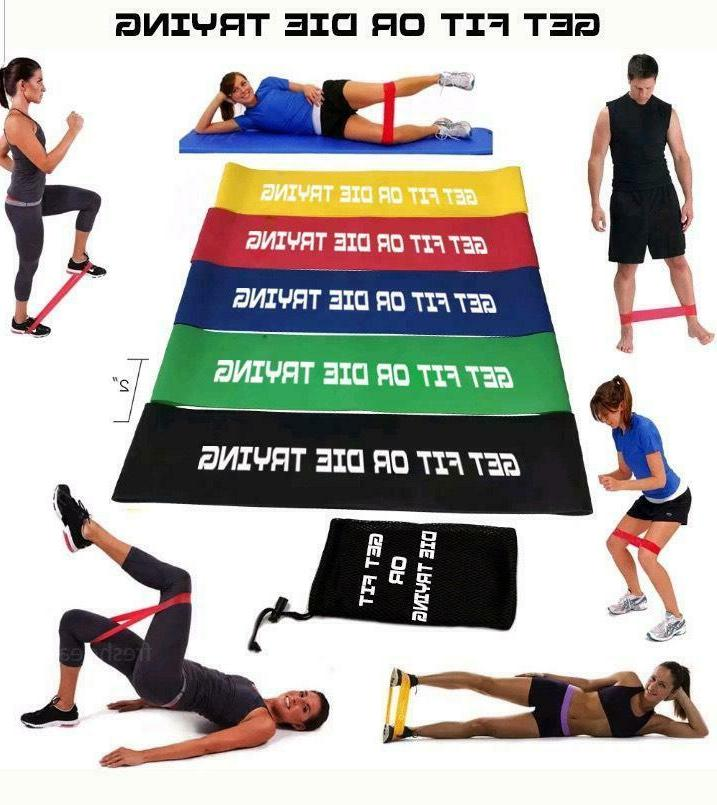 resistance bands loop set exercise sports fitness