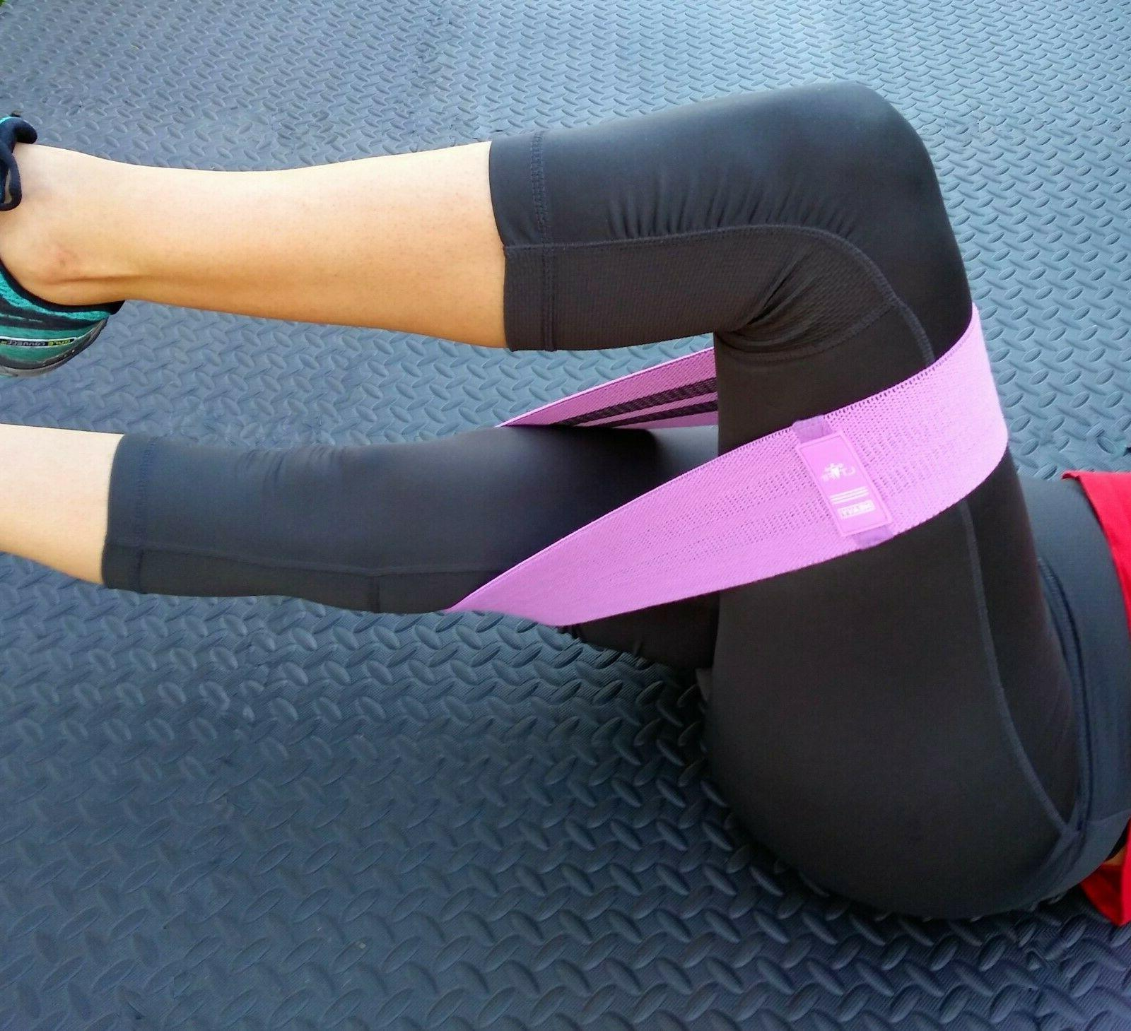 Cloth Booty Bands Loop Set of Exercise Fitness
