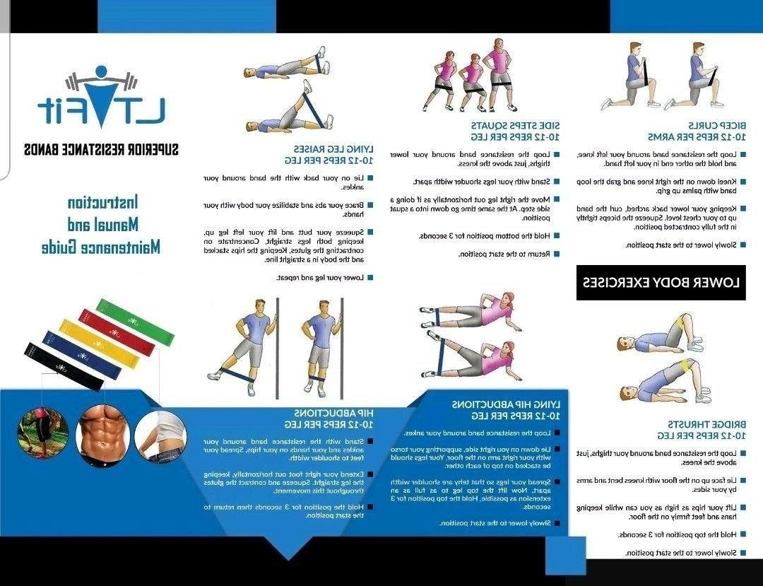 ResistanceBands LoopSet of Exercise Workout Yoga