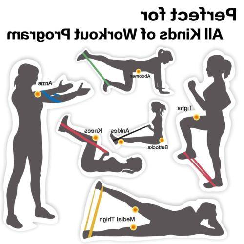 Resistance Bands Loop Set of Yoga Gym Workout Physio