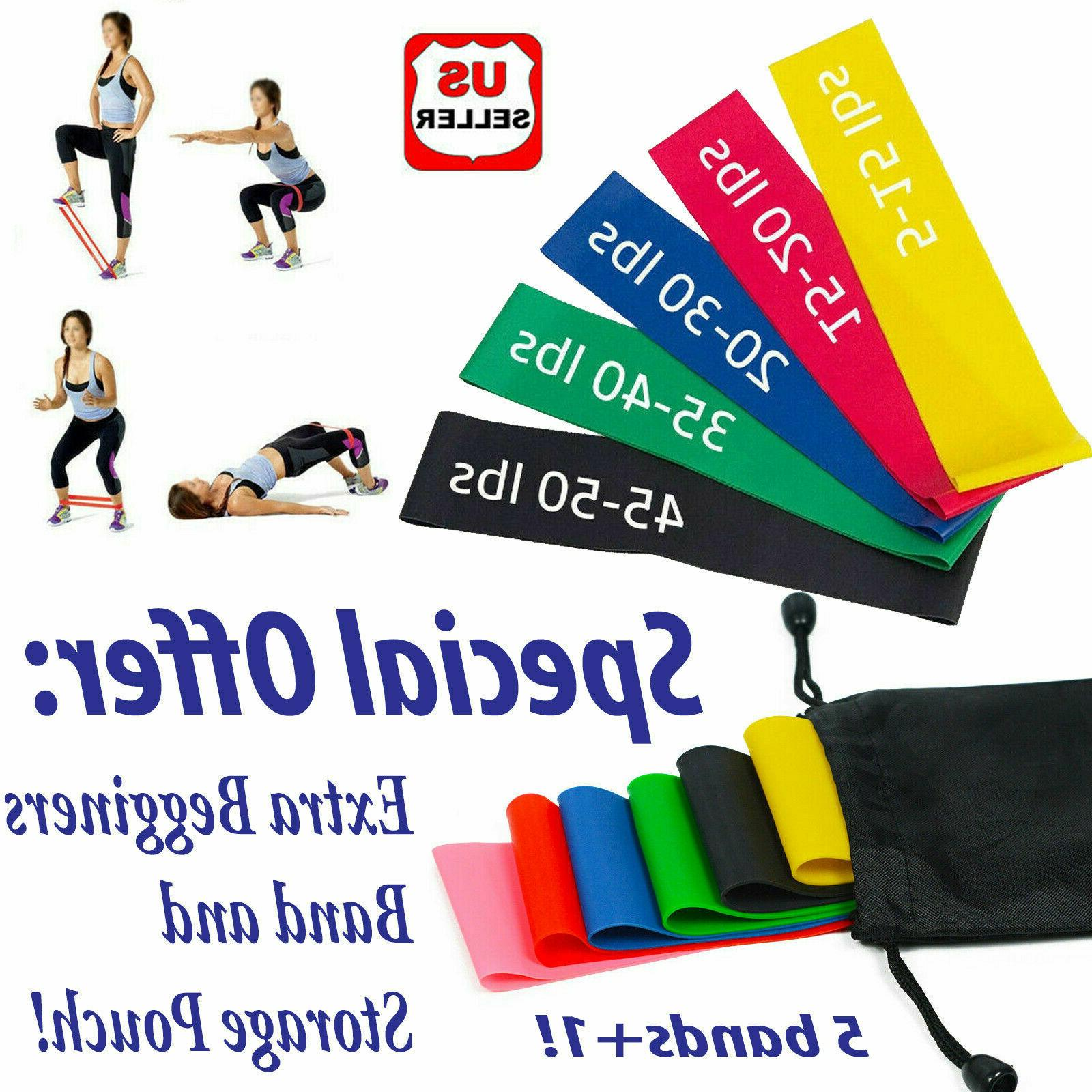 resistance bands loop set of 6 exercise