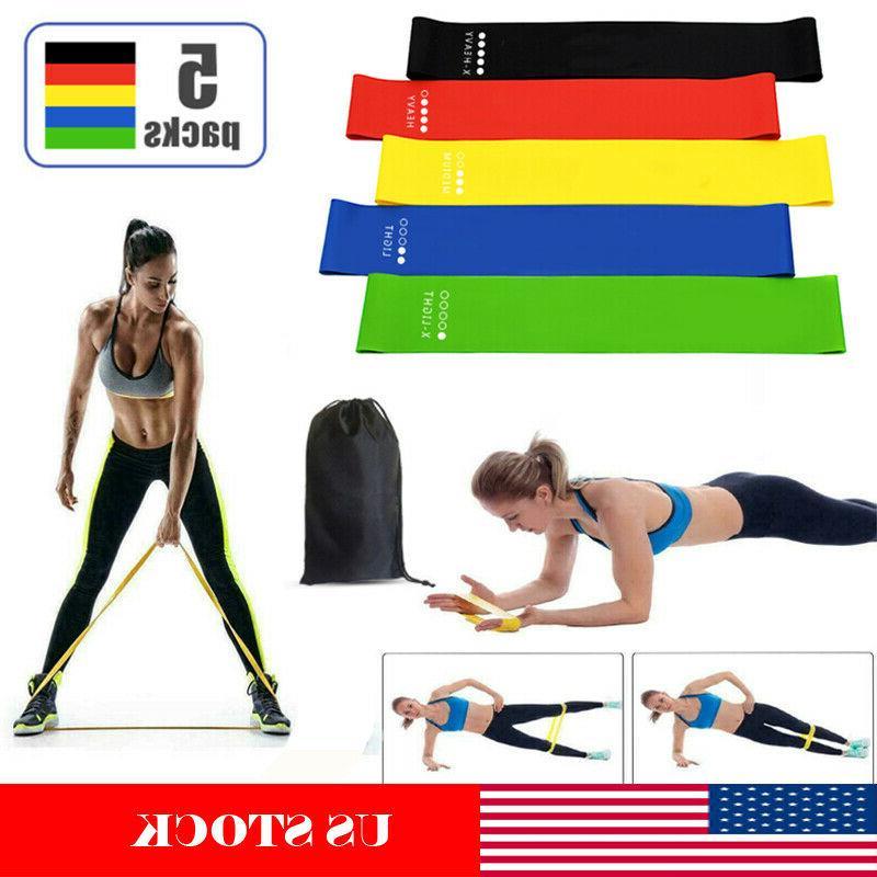 resistance bands loop yoga workout crossfit fitness