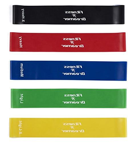 Fitness Exercise Workout Bands 5, for Training Therapy-Improve Life Time
