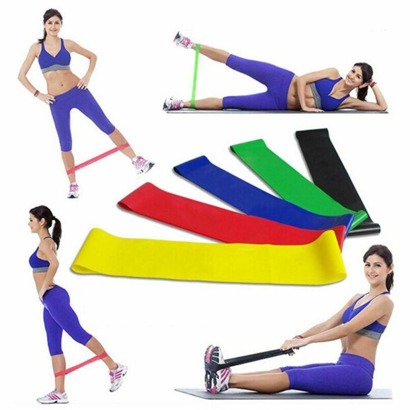 resistance bands pilates exercise gym fitness stretch