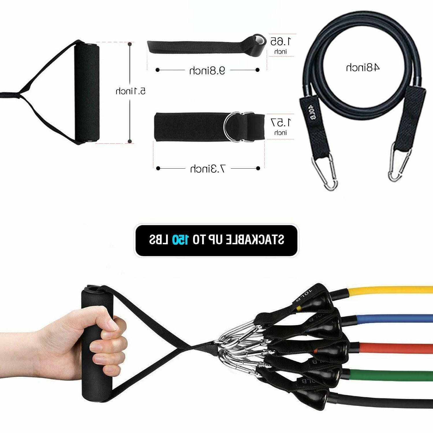 Whatafit Resistance Bands Set ,Exercise with Anchor,,Handles