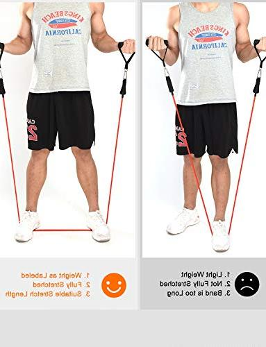 Mpow LBS Resistance Bands Snap Exercise with Door Attachment, Ankle for Muscle, Trainer Leg Strength