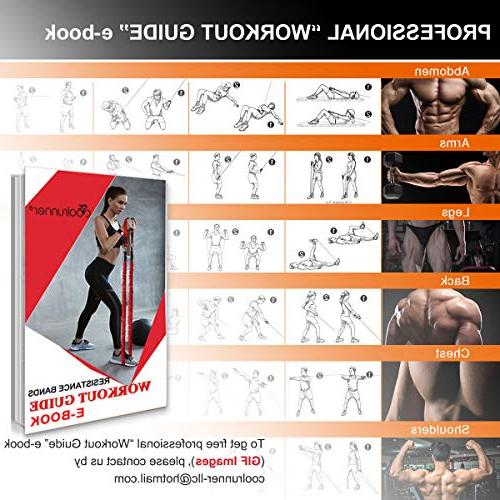 Coolrunner Bands Set, 14 PCS Workout 20lbs 40lbs Tubes Sleeve, Men with Handle Door Ankle Strap -