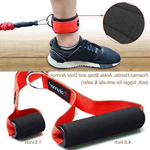 Coolrunner Bands 14 PCS Workout 20lbs Resistance Tubes Nylon Men Exercise with Ankle Strap - Up