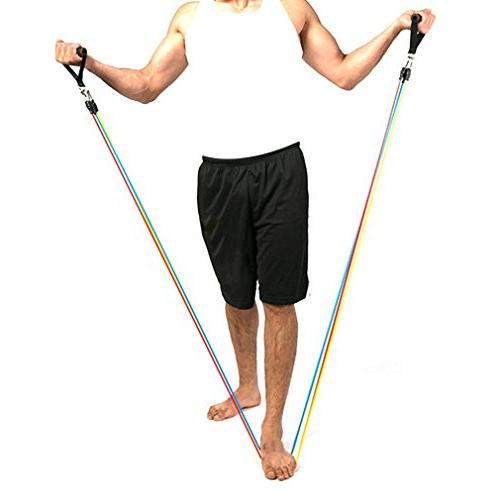 Koncle Set, Exercise Bands, Bands Include Door Anchor, Handles, Ankle and Waterproof Carrying Case, for Training, Sports & Outdoors