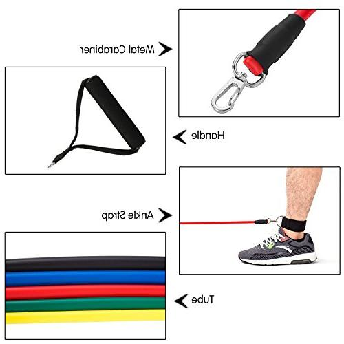 Koncle Exercise Fitness Bands Ankle Straps and Waterproof Carrying Case, for Training,
