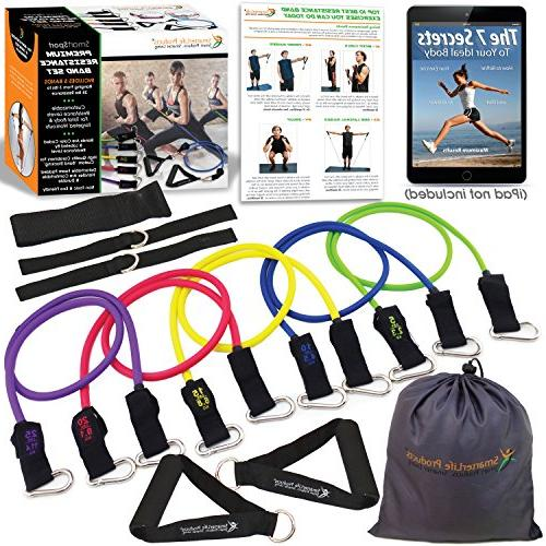 Resistance Bands Set for Legs 5 Heavy Anchor, Straps up For Resistance Therapy, Home Gym