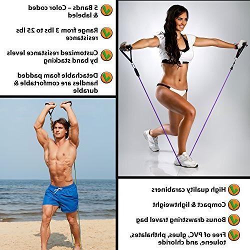 Resistance Bands for Legs Bands - Anchor, and Ankle Straps - to 75 For Therapy, Home
