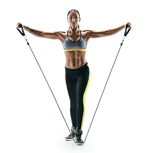 Resistance Bands for 5 Heavy Duty Exercise Bands With Anchor, Handles Ankle Straps - Stackable to - For Therapy, Home