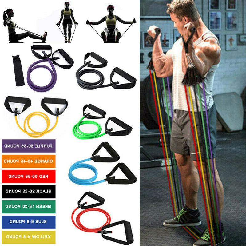 Resistance Band Yoga Abs Exercise  Fitness Tube Home Gym Wor