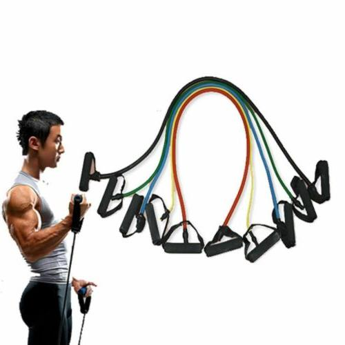 5 Pieces Bands Set Home Fitness Workout Bands Hot