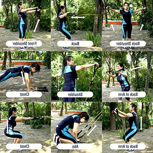 UPOWEX Resistance – 5 Exercise Carry Bag, Door Anchor Attachment, Bonus eBook – Life Guarantee