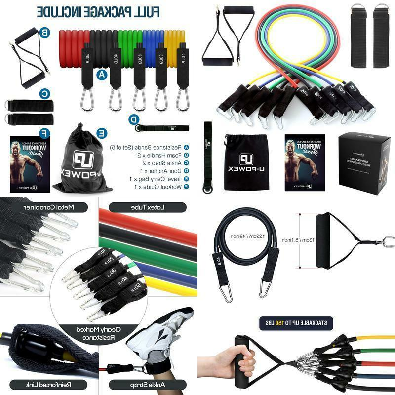 resistance bands set include 5 stackable exercise