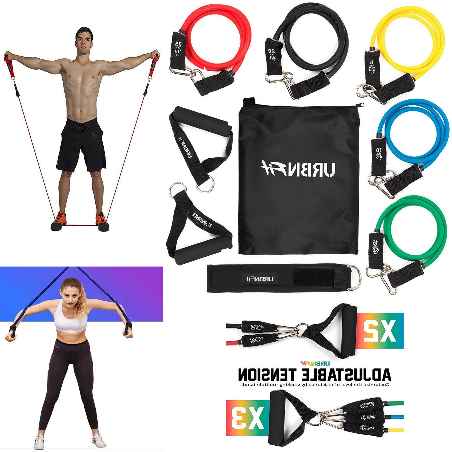 URBNFit Bands Includes Anchor, Ankle & Exercise Guide Carrying for Training