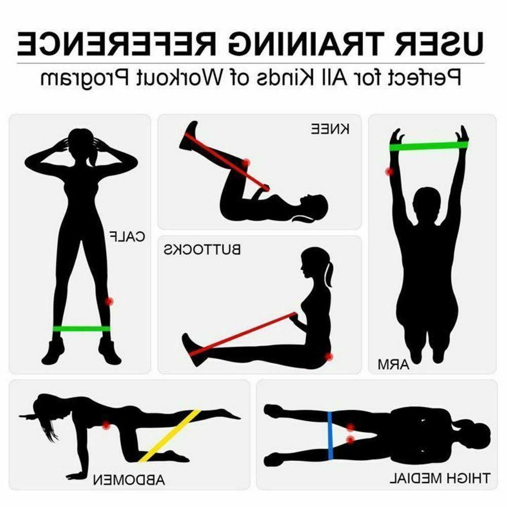 RESISTANCE BANDS Exercise Yoga Elastic Fitness Gym Training Workout