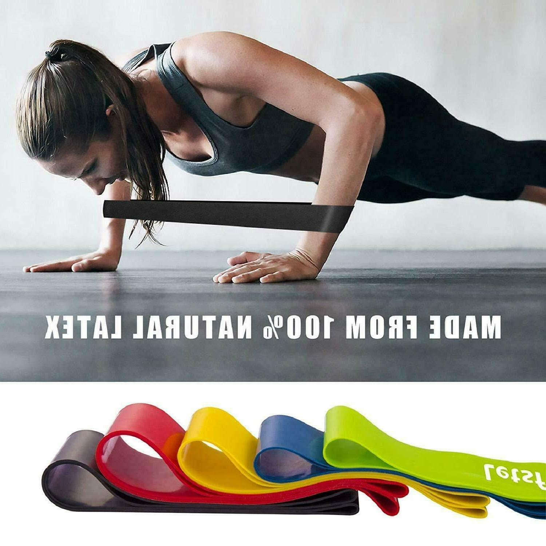 resistance bands set loop exercise yoga elastic