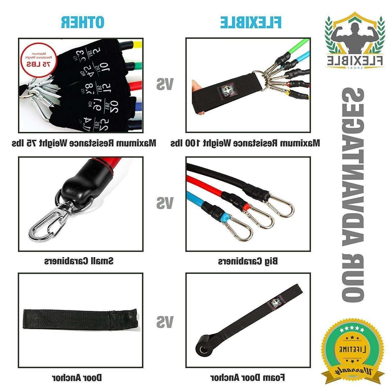 Resistance Set Unisex. Door Anchor, Handles, Ankle Straps, Guide Bag