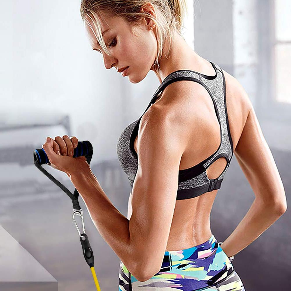 Lonrun Resistance Bands with Fitness Handles, Ankle St