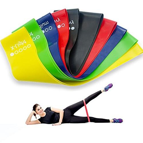 Resistance Band – Pack 5 Long Plus Bag Great Legs, Butt, Hip, Arms, Gym Home use Squat