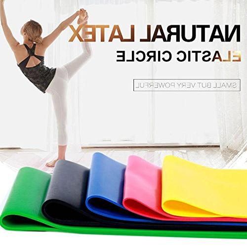 Resistance Bands Set Band – Pack 5 Plus Carry Bag - Great Butt, Arms, Gym use Best Calisthenics, WOD,