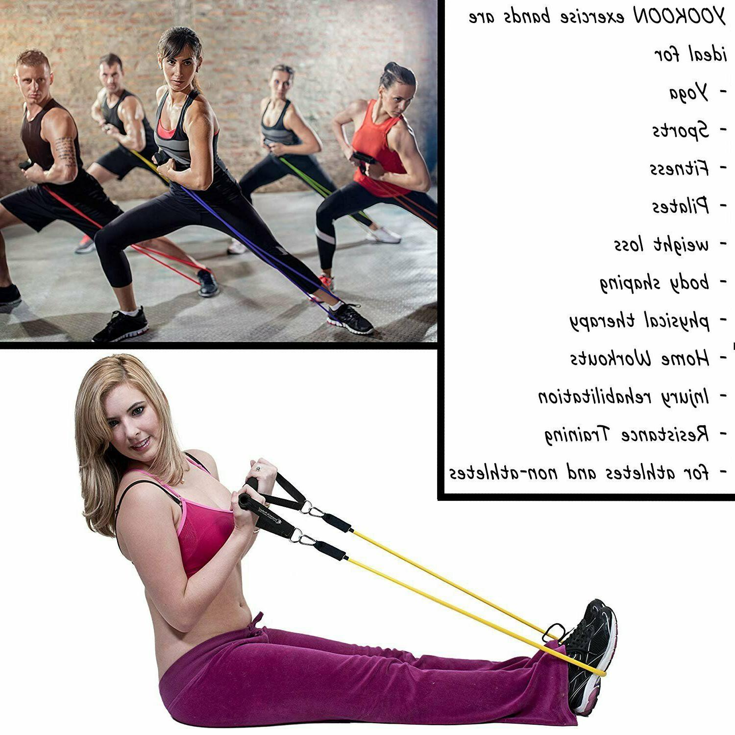 Resistance Bands Bands with Towel, Anchor,