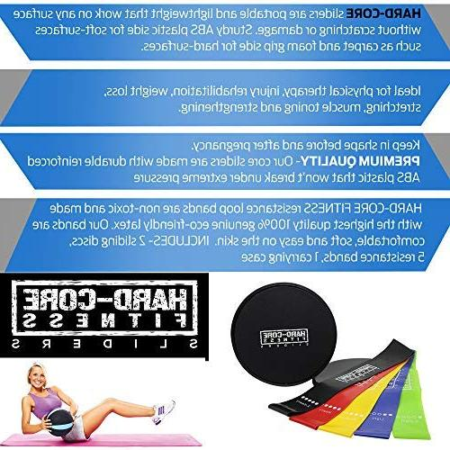 Resistance for Fitness. Exercise Equipment for and Full Workout. Tone, Muscle with Hard- Sliders
