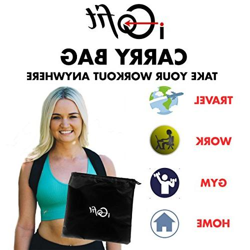 iGofit Premium and Sliders Set. Arms, Abs, Legs. Fitness Loops, 2 Core Discs. Jump Carrying Bag.